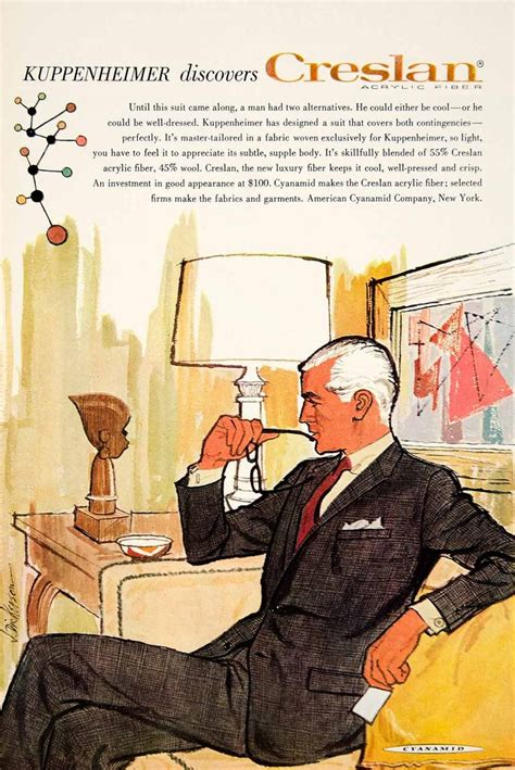 Fashion Mad The C String by 1960 Ad Vintage Kuppenheimer Business Suit Creslan Mad