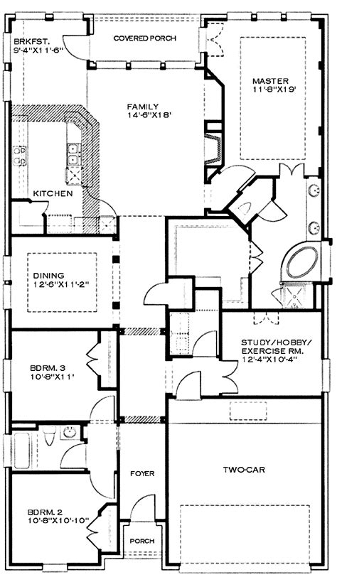 one story house plans bonus room cottage house plans