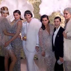 Kris Kardashian Home Decor by Kardashian Jenner Girls Get Glam For Kris Great Gatsby