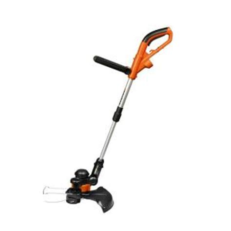 worx 14 in 5 0 wheeled shaft electric grass trimmer