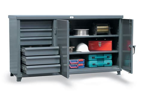 Steel Workbenches With Drawers by Strong Hold Products Workbench With Steel Top And 6 Drawers