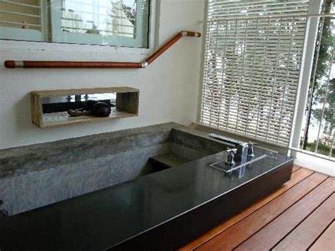 plunge bathtub lovely beach resort that exuded a cool chill out vibe