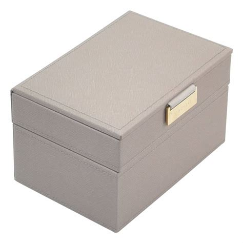 mini settee stackers juwelendoos mini 2 set taupe grey stackers box