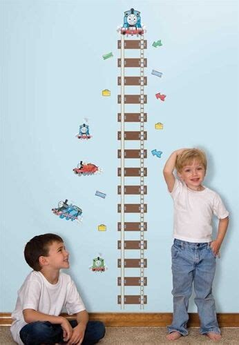 growth charts for rooms the growth chart wall stickers room decor vinyl decals tracks ebay