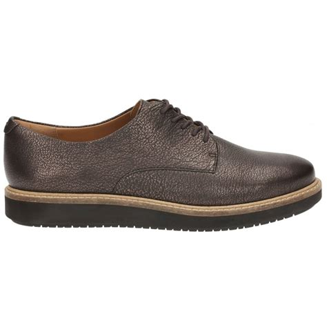clarks womens glick darby brown leather casual shoes