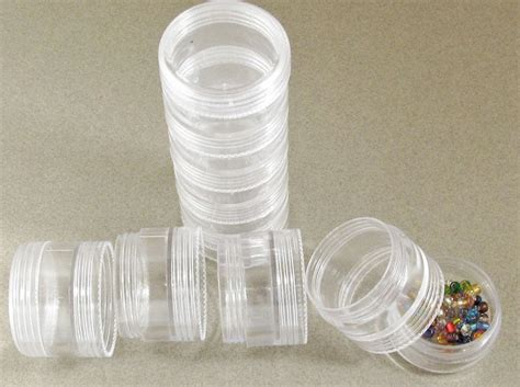 stacked plastic bead storage containers set of 10 1 1 2 quot x 3 4 quot 2 stacks ebay