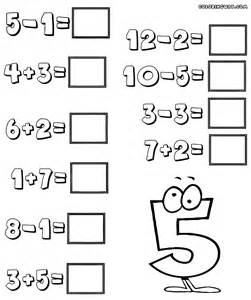 easy math worksheets coloring pages to download and print