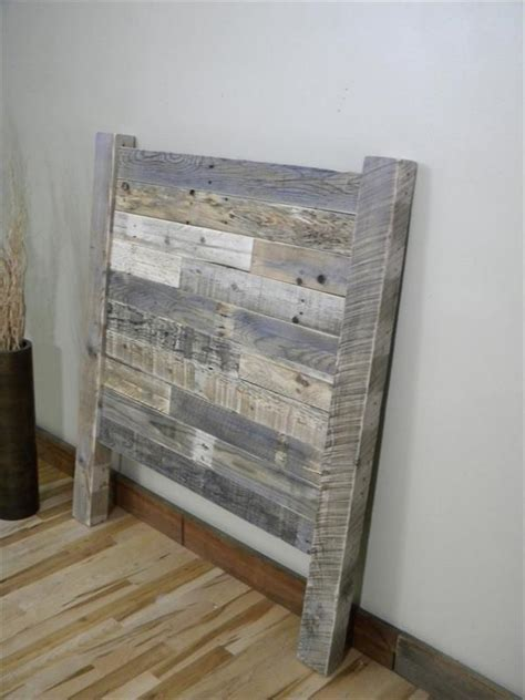 diy distressed pallet twin headboard wooden pallet furniture