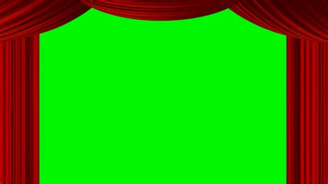 green screen curtain animated zooming red curtain on green screen chroma key