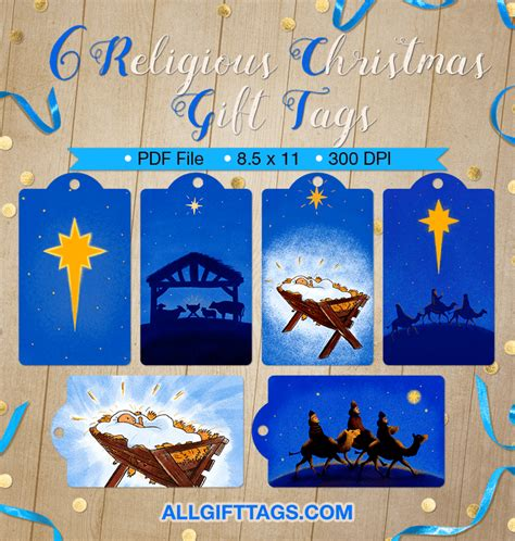 religious christmas gift tags