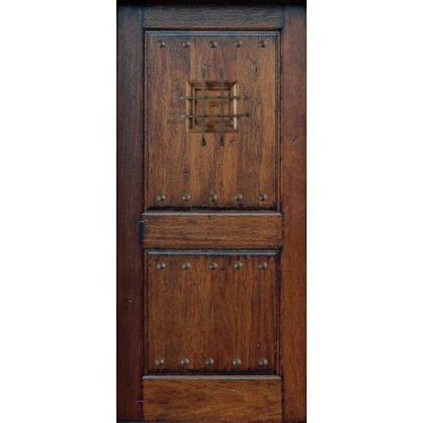 Rustic Front Door Hardware 599 Door Rustic Mahogany Type 2 Panel Prefinished Distressed Solid Wood Slab Entry Door