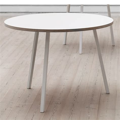 Round Dining Room Tables the round loop stand table by hay in the shop
