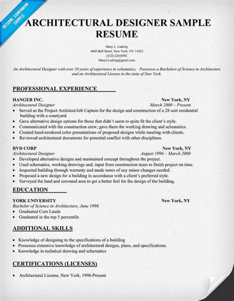 Ui Designer Resume Sample by Architectural Designer Resume Sample Architecture