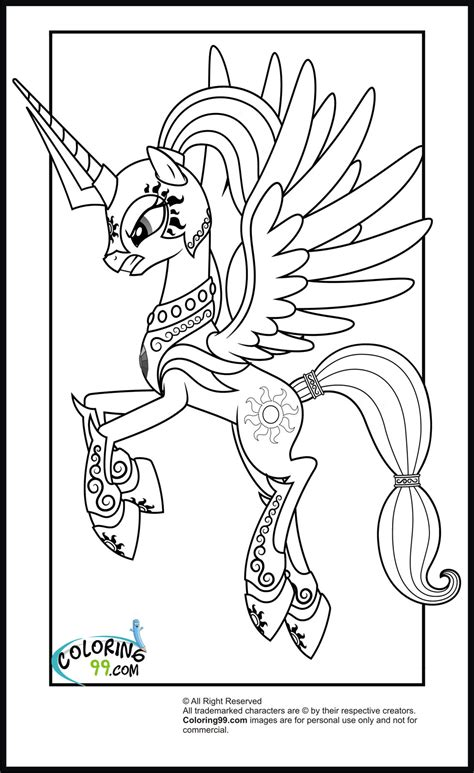 My Little Pony Princess Celestia Coloring Pages Minister Mlp Eg Coloring Pages
