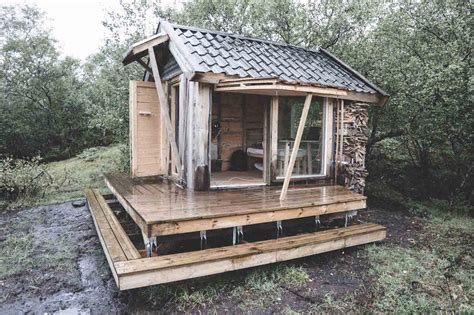 tiny cabin architecture student builds a tiny solar powered cabin