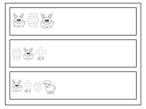 easter pattern worksheet easter themed repeating patterns by claireh1039 teaching