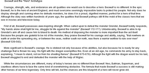 Creator Archetype Essay by Annotated Bibliography Beowulf