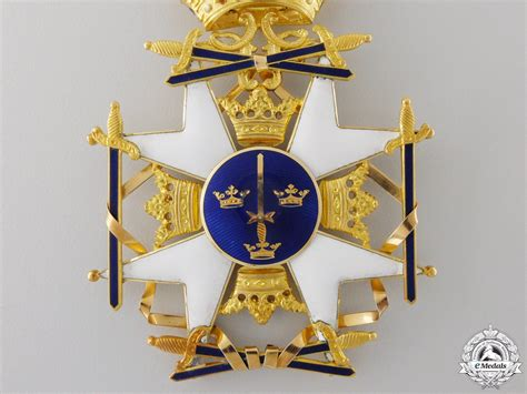 Casing Cross G901t Fullset a swedish order of the sword to air section chief grand cross set