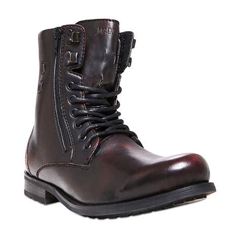 steve madden madden mens shoes lumber zip boots in purple for burgundy lyst