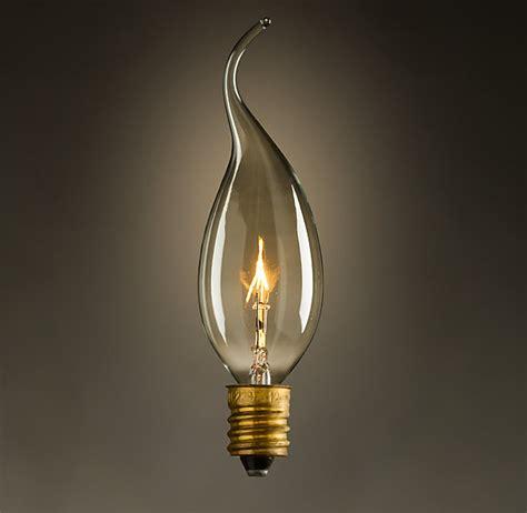 Light Bulbs: Antique Teardrop Candelabra Bulb Filament
