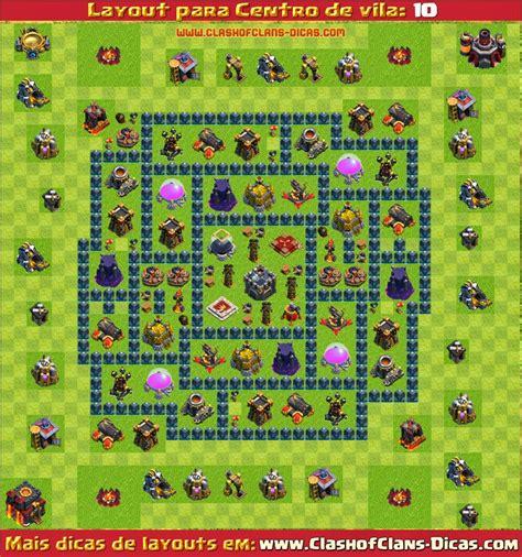 layout morcego cv 6 layouts de centro de vila 10 para clash of clans clash
