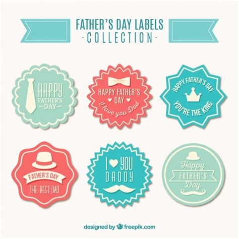 S Day Badges Colored Vintage S Day Badges Vector Free