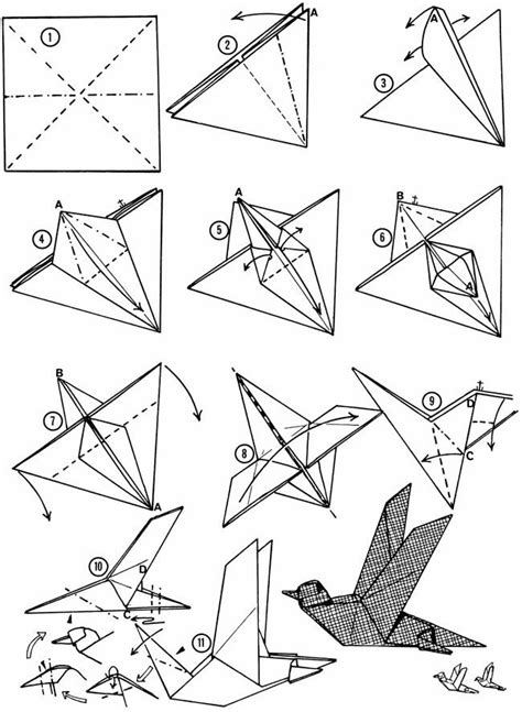 How To Make A Paper Bird That Flies - origami bird that flies 25 unique origami birds ideas on