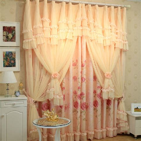 aliexpress com buy princess white pink curtain lace pink lace princess sheer curtains elegant leaf print