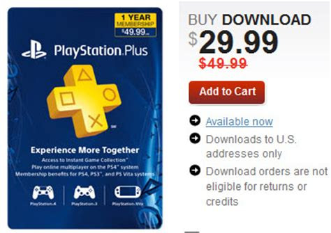 PlayStation Plus 1 Yr Membership just $29.99 (down from $49.99)   AddictedToSaving.com