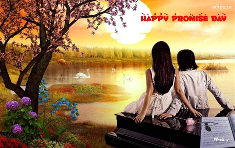happy promise day natural couple hd wallpaper