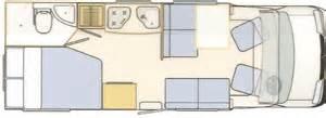 Rv Camper Floor Plans motorholme hire 2 3 amp 4 berth motorhomes in the south east