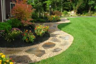 Walkway Ideas For Backyard Outdoor Patio Ideas On Pea Gravel Patio Pea Gravel And Flagstone