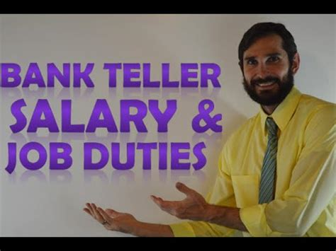 bank teller salary education requirements duties