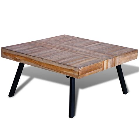 teak coffee table vidaxl co uk coffee table square reclaimed teak