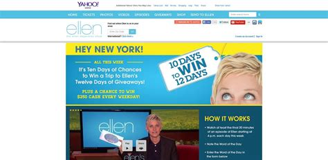 Ellen 12 Days Of Giveaways Contest - ellentv com newyork ellen s 10 days to win 12 days of giveaways sweepstakes