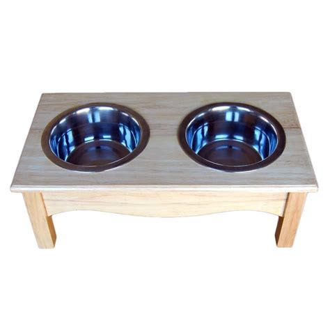 elevated bowl stand raised wooden bowl stand elevated feeder in a wood finish ebay