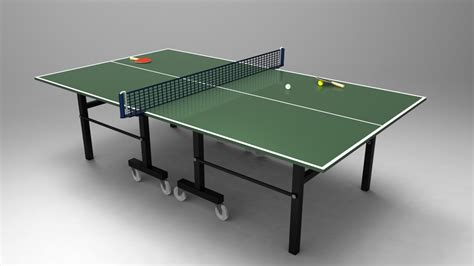 free ping pong table table tennis ping pong table 3d cad model library