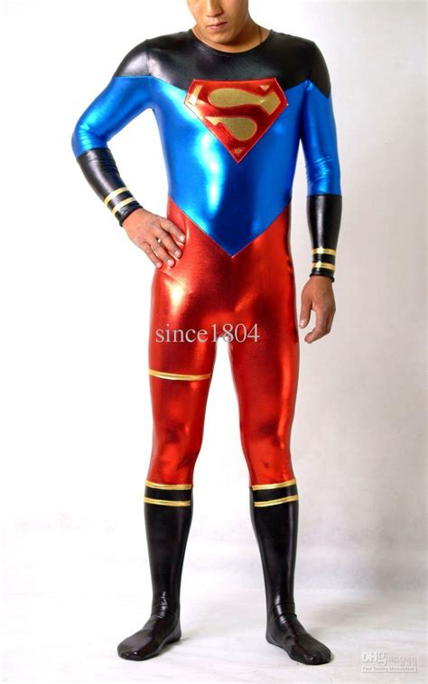 latex cloth lycra spandex zentai costume superman customize cloting