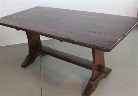 drop leaf trestle table from salvaged pine ecustomfinishes