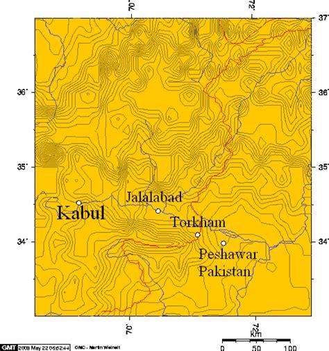 middle east map khyber pass khyber pass kabul jalalabad torkham peshawar 1