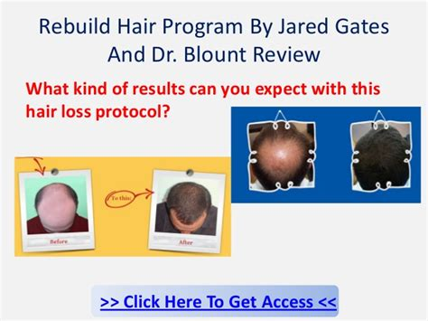 the rebuild hair program review is it scam or not rebuild hair program review can jared gates help you