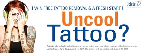 delete tattoo removal phoenix delete announces the return of the uncool contest