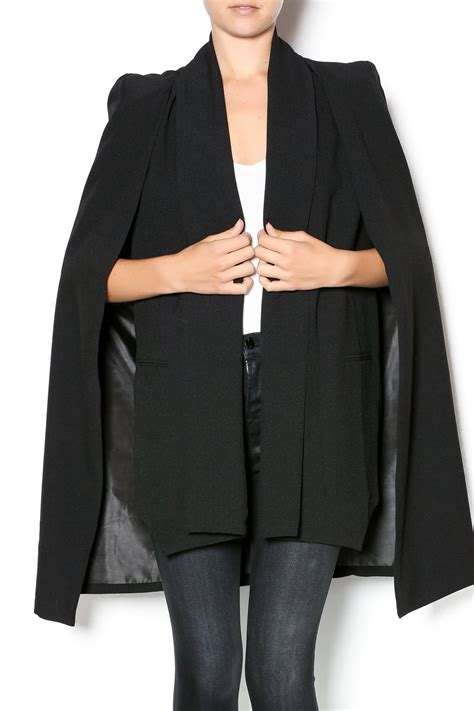 Cape Blazer 3 1 black cape blazer from mexico by felixboutique