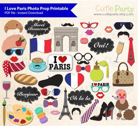 free printable paris themed photo booth props paris theme photo booth prop i love paris photo booth prop