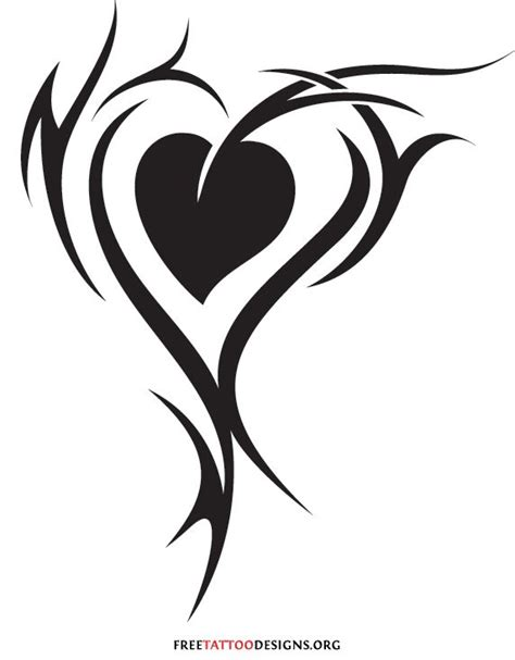 tribal heart and flower tattoo designs group 55