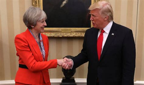 trump reinstalls churchill bust obama removed it s a great honour president trump shows returned
