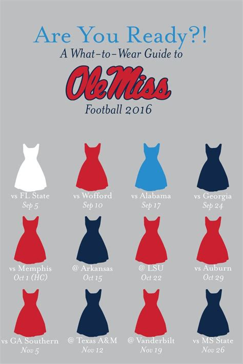 ole miss 2016 football schedule what to wear colors ole