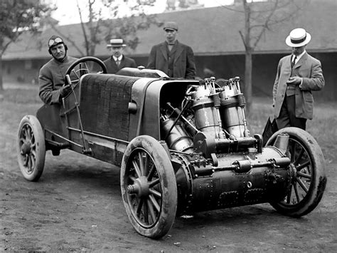 Auto Mobilen by Christie V 4 Engine 1907 Racer Machine Press