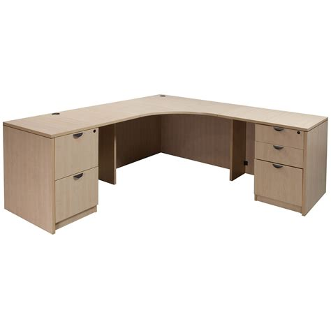 Laminate Used Corner Desk L Shape Maple National Office Corner Shaped Desk