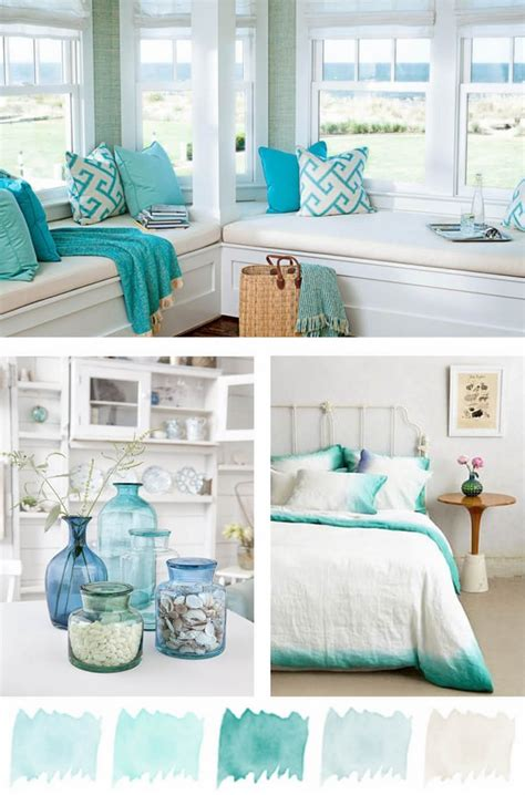 deco interior color palette coastal decor ideas invite the summer vacation mood in